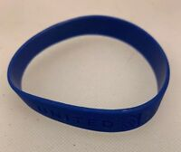 United Airlines Silicon Wristband Wrist Band Bracelet UAL We Are Blue