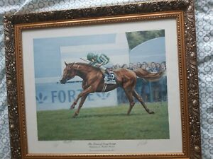 Limited edition The Lions Of Longchamp Signed By  Roy Miller &francie Dettori