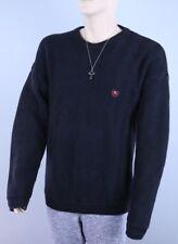 Chaps by Ralph Lauren RARE C RL Crest Logo Black Pullover Sweater Men's XL 👕