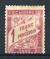 "FRANCE STAMP TIMBRE TAXE 39 "" DUVAL 1F ROSE S PAILLE 1896"" NEUF x TB SIGNE  P781"