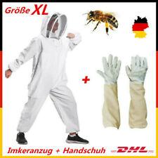 Imkeranzug Beekeeper Schutzanzug Hut Schleier Bienenzucht mit Handschuh XL