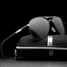 US 2017 Mens Polarized  Driving Sunglasses Aviator outdoor Sports UV400 Eyewear