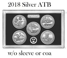 2018 America The Beautiful National Parks Quarter SILVER Proof Set w/o box/COA