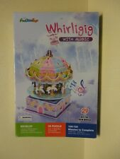 WHIRLIGIG  WITH MUSIC  3D PUZZLE   CAROUSEL HORSES