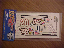 2003 TONY STEWART #20 HOME DEPOT 1/24-1/25 SCALE SLIXX VINYL  DECAL SHEET