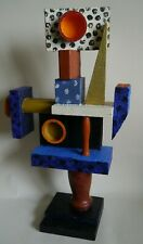 Retro sculpture abstract painted wood cubist modern influence Bill Low