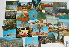 LOT OF 34  FLORIDA FL VINTAGE POSTCARDS GAINESVILLE KEY LARGO  FT MYERS ETC