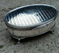Antique Large Solid Silver Casket/Trinket Box 1915 beautiful interior