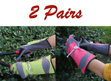 G-TUF Long Cuff Garden Gloves with Wrist Strap for One Size Fit - 2 Pairs