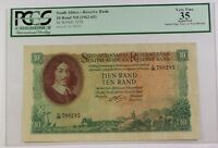 (1962-1965) South Africa 10 Rand ND Reserve Bank Note SCWPM# 107b PCGS VF-35 APP