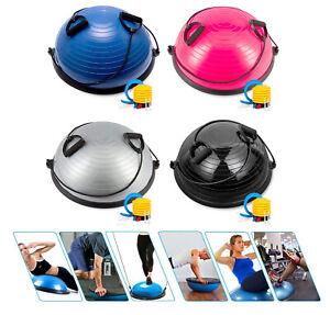 Home Gym Half 58CM Balance Ball Yoga Pilates Fitness Wobble Board Exercise Pump
