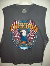 American Freedom Home of the Brave Gray Sleeveless Shirt 2XLarge
