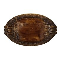 """Southern Living At Home Brimfield Resin Wood Grain Oval Tray Platter 21"""" x 13"""""""