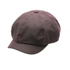 British Waxed Cotton 'Peaky Blinders'' Newsboy Cap Waterproof ZH228