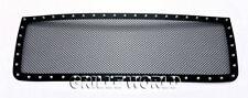 For 2007-2010 GMC Sierra 2500 HD/ 3500 HD Stainless Black Rivet Mesh Grille