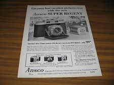 1955 Print Ad Ansco Super Regent 35MM Cameras Binghamton,NY