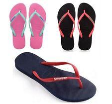 Havaianas Slim Mulheres Logotipo Pop-up Flip Flop Sandália Coral Azul Rosa Preto