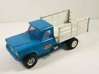 1960's Tonka Jeep Stake Bed Farm DUMP truck WORKS nice paint!