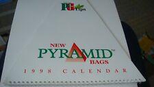 RARE BROOKE BOND  PG TIPS  PYRAMID TEA BAGS CALENDAR  1998 VERY  GOOD,  RARE