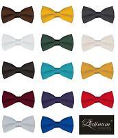 Classic Solid Color Men's Adjustable Pre Tied Formal Bow Tie Tuxedo Bowtie Ties