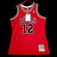 100% Authentic Michael Jordan Mitchell Ness #12 VDay Jersey Mens Size 44 L