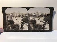India Bombay Plaza Foto Estéreo Vintage Analógica