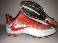 Nike Men's Vapor Untouchable Pro Football Cleat Orange White Silver Size 11