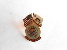 Vintage California State Senate Ruben S Ayala Flags and Seal Political Lapel Pin