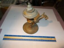 Vintage Ship Whale Oil And Wick Lamp Light Brass