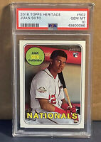 JUAN SOTO 2018 Topps Heritage #502 PSA 10 Gem Mint RC 🔥🔥Nationals Rookie RC