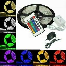RGB 5m Striscia a LED SMD 5050 Bobina con Alimentatore e Telecomand