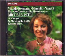Michala PETRI: VIVALDI TELEMANN NAUDOT MARCELLO Recorder Concerto CD Sillito