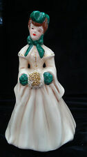 Florence Ceramic 1950's Hand Painted Tan Lady Named Elaine Women Figurine