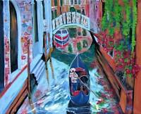 VENICE Italy ORIGINAL Art PAINTING DAN BYL Modern Contemporary Canvas Huge 4x5ft
