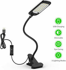 Clip-on Table Lamp Dimmable Eye-Caring LED Desk Lamps 5W Light 24 LEDs