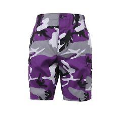 Shorts Bdu Esercito Carico Militare Ultra Violetti Camouflage XS, S, M, L, XL,