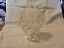 Vintage Small Clear Glass Basket with Handles for Candy or Flowers