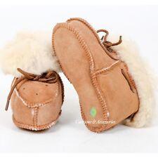 Baby Toddler Merino Sheepskin Wool Fur Slippers Warm Booties Boys Girls - 12cm