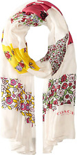 COACH Women's Floral Patchwork Oblong Scarf Wrap