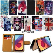 Leather Smart Stand Wallet Case Cover For Various LG Mobile Phones + Strap