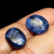Awesome 17.05Cts Natural Oval Cut Sri Lanka Blue Sapphire Gemstone 2 Pcs CH 6089