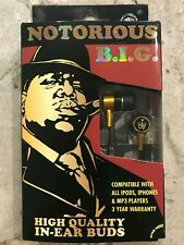 NOTORIOUS BIG In-Ear Buds Artist Headphones for iPod iPhone MP4 MP3 Player NEW