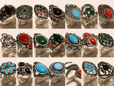 Ring Gemstone Fashion Jewellery Silver Plated 10 Pcs Turkish