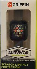 Genuino Griffin Sobreviviente táctico caso para 38MM Apple Watch GB41500   Negro