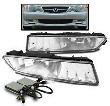 2002-2003 ACURA TL CHROME FRONT BUMPER FOG LIGHTS DRIVING LAMP CLEAR W/6000K HID