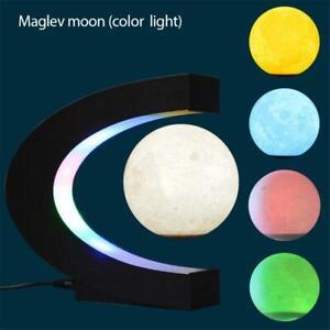 3D Magnetic Levitation Moon Lamp Light Night Magnetic Floating Table Decor Gift