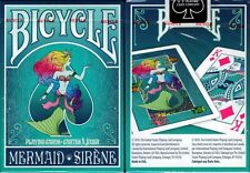 Mermaid Teal Bicycle Playing Cards Poker Size Deck USPCC Custom Limited Sealed