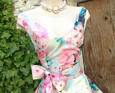 Delightfully feminine PHASE EIGHT *Azalea* pastel floral 50s fit&flare dress 12