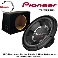 "Pioneer TS-W300S4 12"" Inch Car Bass Sub Subwoofer 1400W + 12"" Box Enclosure"
