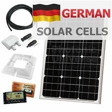 50W 12V dual battery solar panel charging kit with controller & brackets 50 watt